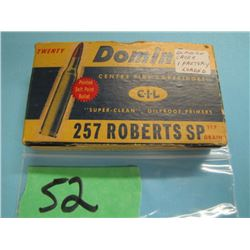 collector box 257 Roberts 19 brass one live