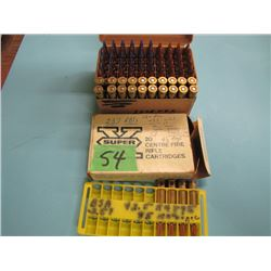 lot of 257 Roberts ammo 74 rounds