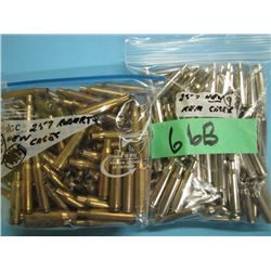 lot of approximately 198 brass 250 Savage