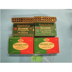 lot of 4 collector boxes 270 Winchester brass
