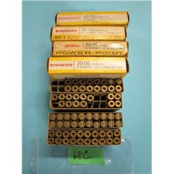 lot of 30 ought 6 Springfield approximately 70 brass