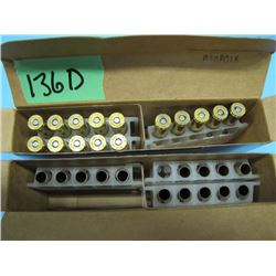 lot with 15 rounds of 375 H&H live and 14 brass