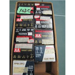 lot of nine boxes 28 gauge hand loads