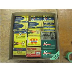 lot with collector rifle ammunition boxes