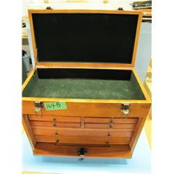 wooden display box with drawers