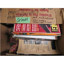 box of mix shooting magazines