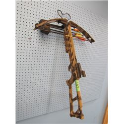 crossbow with arrows -  sight broke off