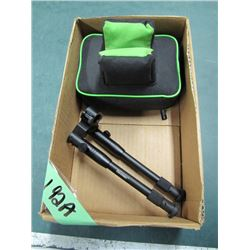 box with shooting rest and rifle bipod