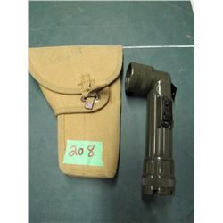 canvas holster and army flashlight