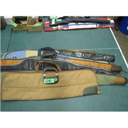 lot of six soft sided gun cases