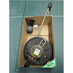 large reel and weight