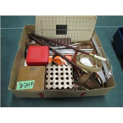 box with cleaning rods slings targets Etc