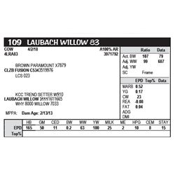 LAUBACH WILLOW 83
