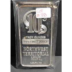 10 Troy Ounces .999 Fine Silver Northwest Territorial Mint (NTR)