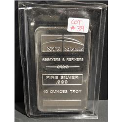 10 Troy Ounces .999 Fine Silver NTR Metals