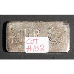 3 oz Fine .999 Silver Bar  Old Pour Minted by MFR
