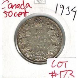 1934 Canada Silver 50 Cent