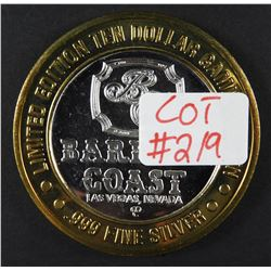 Limited Edition .999 Fine Silver Casino Token BARBARY COAST