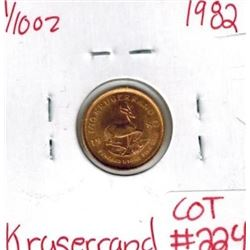 1982 1/10 oz Fine Gold KRUGERRAND South Africa