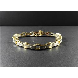 Ladies 14 kt White & Yellow Gold Diamond Bracelet