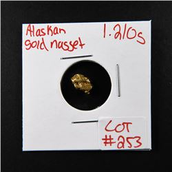 Natural Alaskan Gold Nugget 1.210 grams