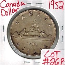 1952 Canadian Silver Dollar