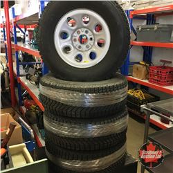 Set of 4 Tires & Rims : Firestone P265/70R17 (from '06 Chev Avalanche)