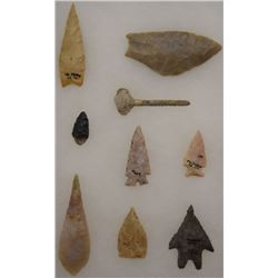 COLLECTION OF STONE SPEAR POINTS