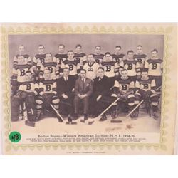 BOSTON BRUINS WINNERS AMERICAN PICTURE 1934-35