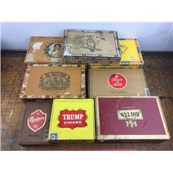 lot of 8 vintage cigar boxes