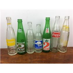 Vintage soda pop bottle lot
