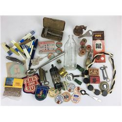 Miscellaneous junk drawer lot #1 skeleton keys milk caps razor buffalo