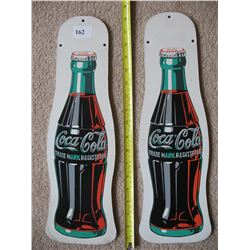 Pair of Coca Cola wood (fibre Board)