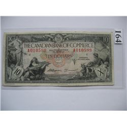 1935 Canadian Bank of Commerce - $10 Banknote - Ser. # A010599