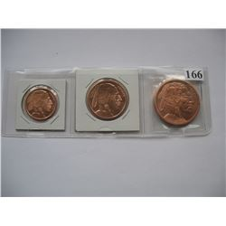 Copper Bullion - 1/2 Oz. - 1 Oz.  - 2 Oz - Indian Head / Buffalo Design