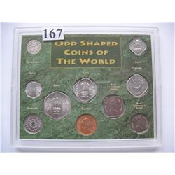 Odd Shaped Coins of the World Set
