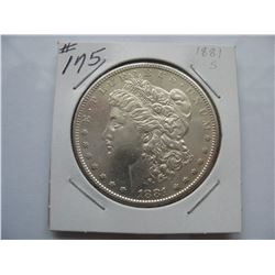 1881S  United States Morgan Dollar