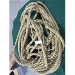 CANADIAN ARMY MILITARY WWII TYPE HEMP ROPE FOR VEHICLES (APPROX 60FT. )
