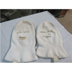 2 CANADIAN ARMY WINTER WOOL BALACLAVAS