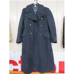 1951 PATTERN ROYAL CANADIAN AIR CADET BLUE WOOL OVERCOAT (DATED 1953)