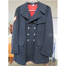 RCMP BLUE WOOL DRESS UNIFORM OVERCOAT (1965) SZ 42