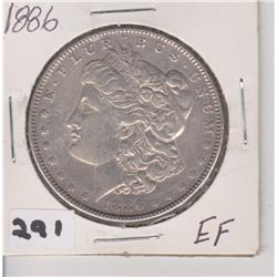 1886 UC MORGAN SILVER DOLLAR