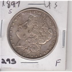 1897 US MORGAN SILVER DOLLAR