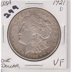 1921 D US MORGAN SILVER DOLLAR