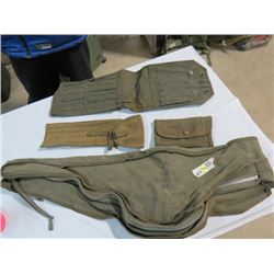 M2-50 CAL. MACHINE GUN SPARE BARREL CARRIER, CLEANING POUCH, TOOL POUCH