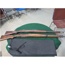 2 BRAZILIAN MAUSER RIFLE STOCKS
