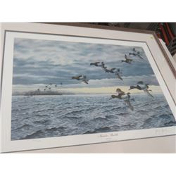 NOVEMBER BLUEBILLS PRINT BY BUZZ BALZER 864/5000 35X28