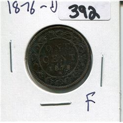CANADA 1876 LARGE PENNY
