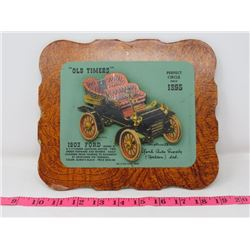 1903 FORD MODEL A CAR DEALER CARD 9X8 YORK AUTO SUPPOLY CO. YORKTON SK.