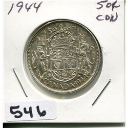 1944 CNDN SILVER 50 CENT PC